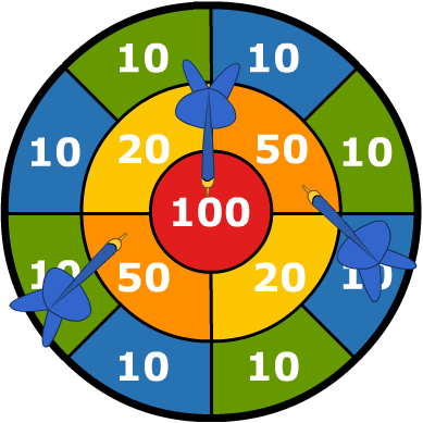 dartbord blauw 01